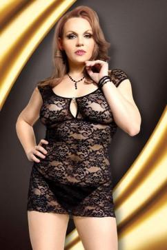 Erotická košieľka   Linley black XXL