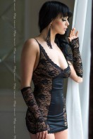 Erotická košieľka   Evie black