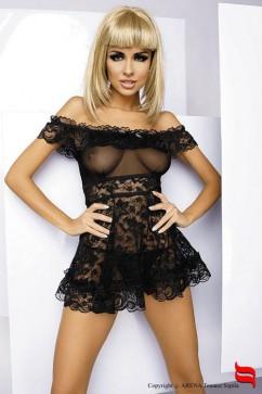 Erotická košieľka   Flores chemise black