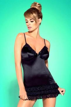 Erotická košieľka   Blackbella chemise XXL