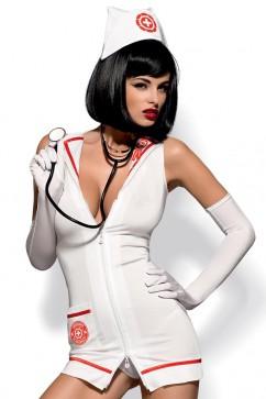 Erotický kostým Emergency dress a stetoskop XXL
