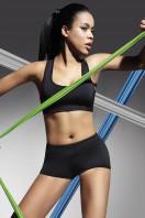 Fitness šortky Forcefit 30 black