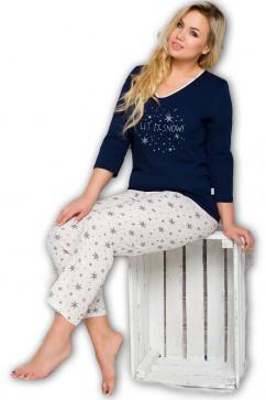 Dámske pyžamo Lena 146 blue-ecru