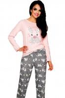 Dámske pyžamo Oda 1193 pink-grey