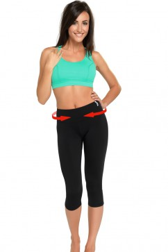 Fitness legíny Slimming capri colorado