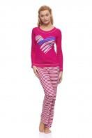 Dámske pyžamo Paula long amarant